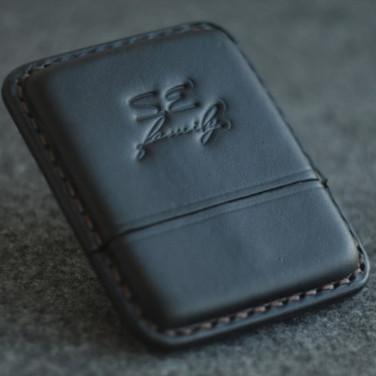 Шкіряний портсигар Wales Black leather