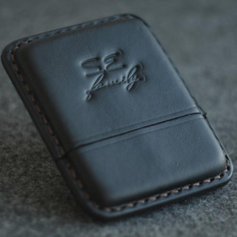 Кожаный портсигар Wales Black leather