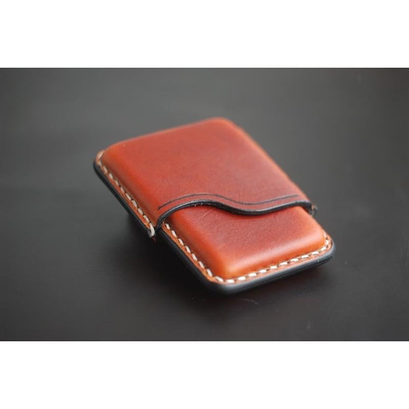 Кожаный портсигар Slim red leather