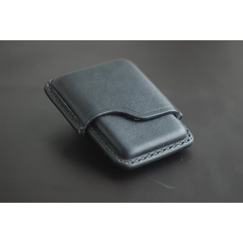 Кожаный портсигар Super slims grey