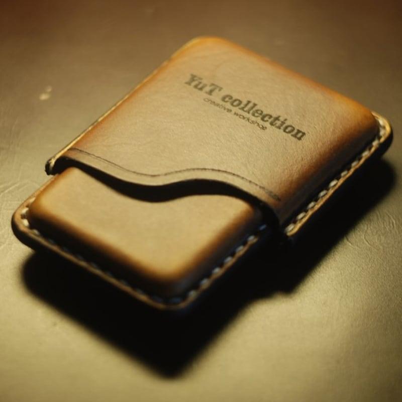Кожаный портсигар King size Slim brown leather