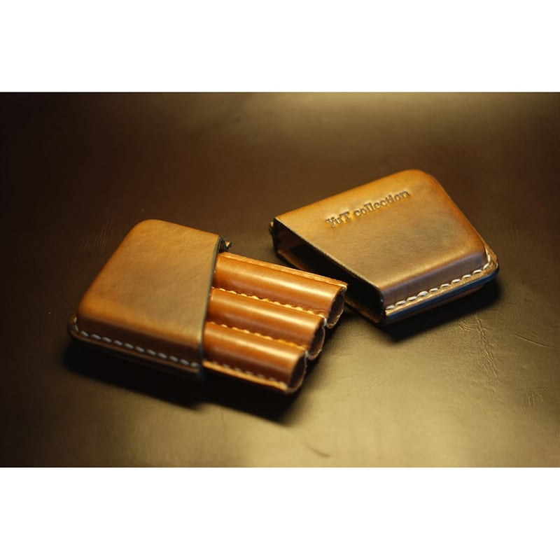 Кожаный портсигар для сигар Havana brown leather