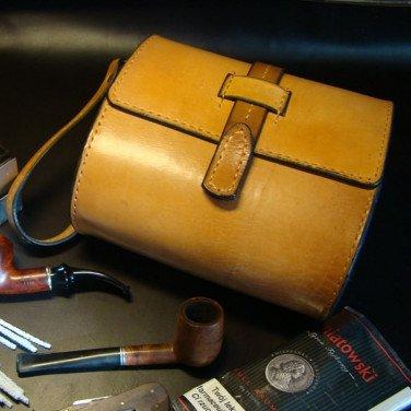 Шкіряний кофр для курильних трубок Windsor brown leather