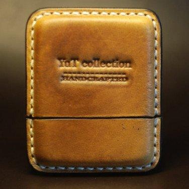 Кожаный портсигар Light brown leather