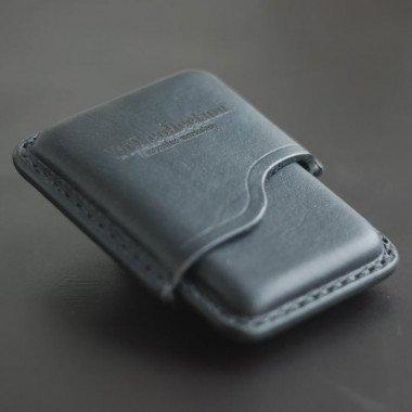 Шкіряний портсигар Super slims black leather
