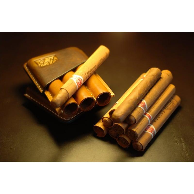 Шкіряний портсигар для сигар San Luis brown leather