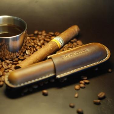 Кожаный портсигар для сигары Pinar Del Rio brown leather