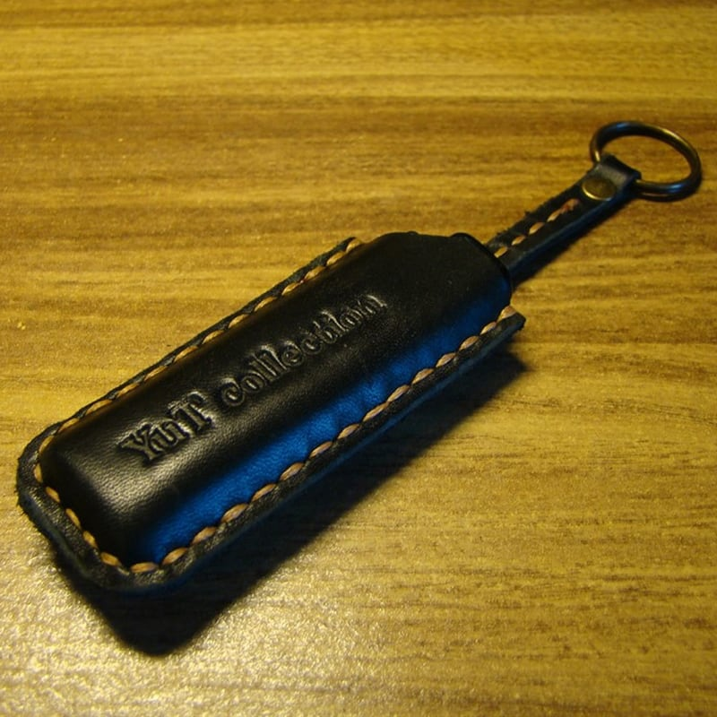 Кожаный чехол для зажигалки Como black leather