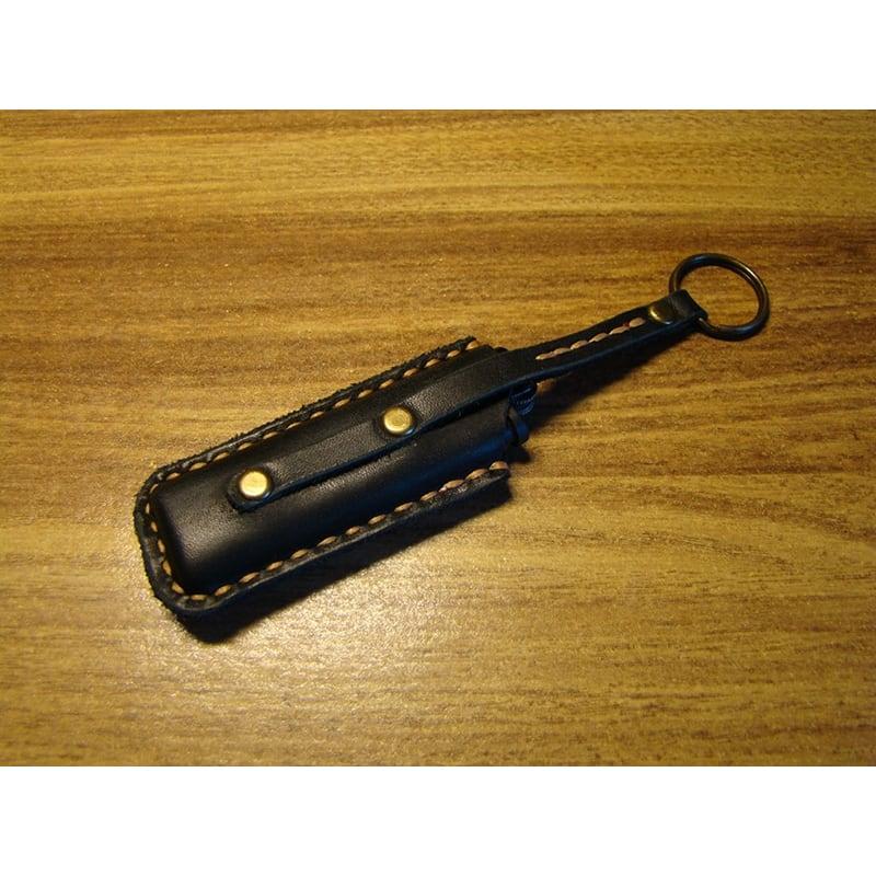 Шкіряний чохол для запальнички Como black leather