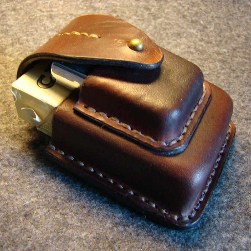 Чохол для сигарет і запальнички Canterbury brown leather
