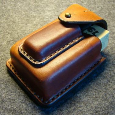 Чехол для сигарет и зажигалки Glasgow brown leather