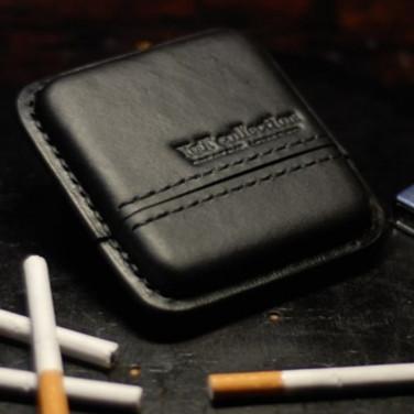 Кожаный портсигар American Style black leather