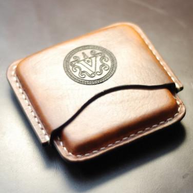 Шкіряний портсигар Сідаг-Саѕе brown leather