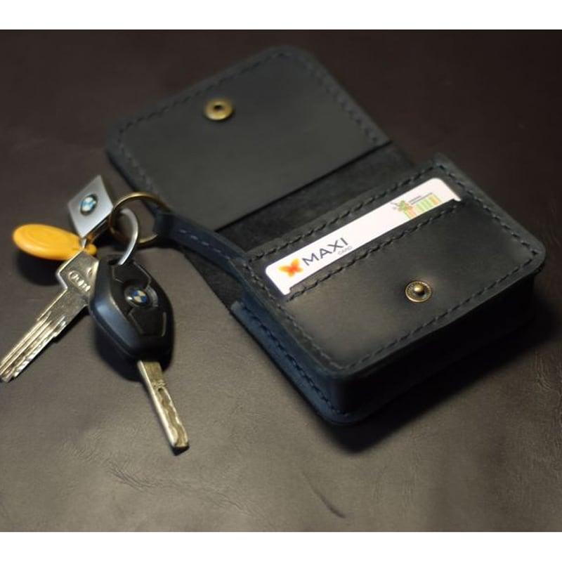 Кожаный кошелек Multifunction black leather