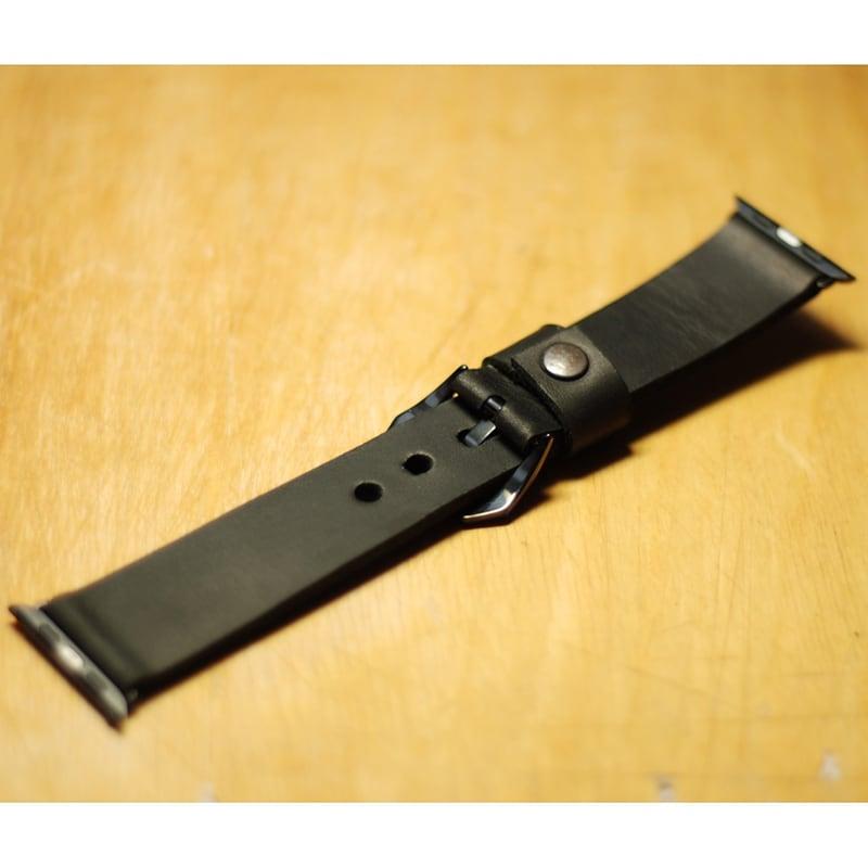 Шкіряний ремінець для Apple Watch 40/44 black leather