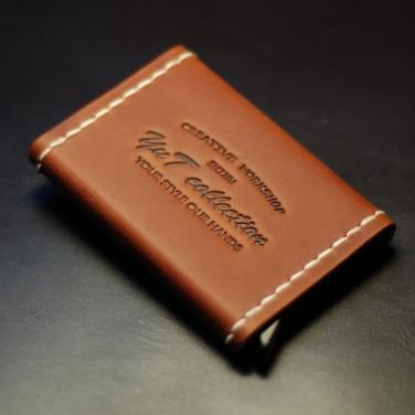 Шкіряний картхолдер Card Protector brown leather