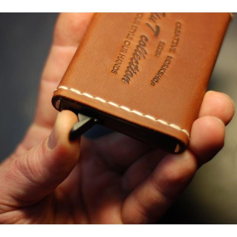 Кожаный картхолдер Card Protector brown leather