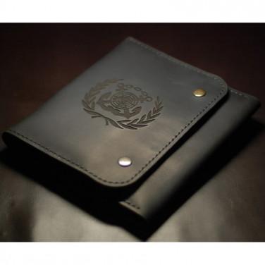 Кожаный органайзер Seaman's Briefcase black leather