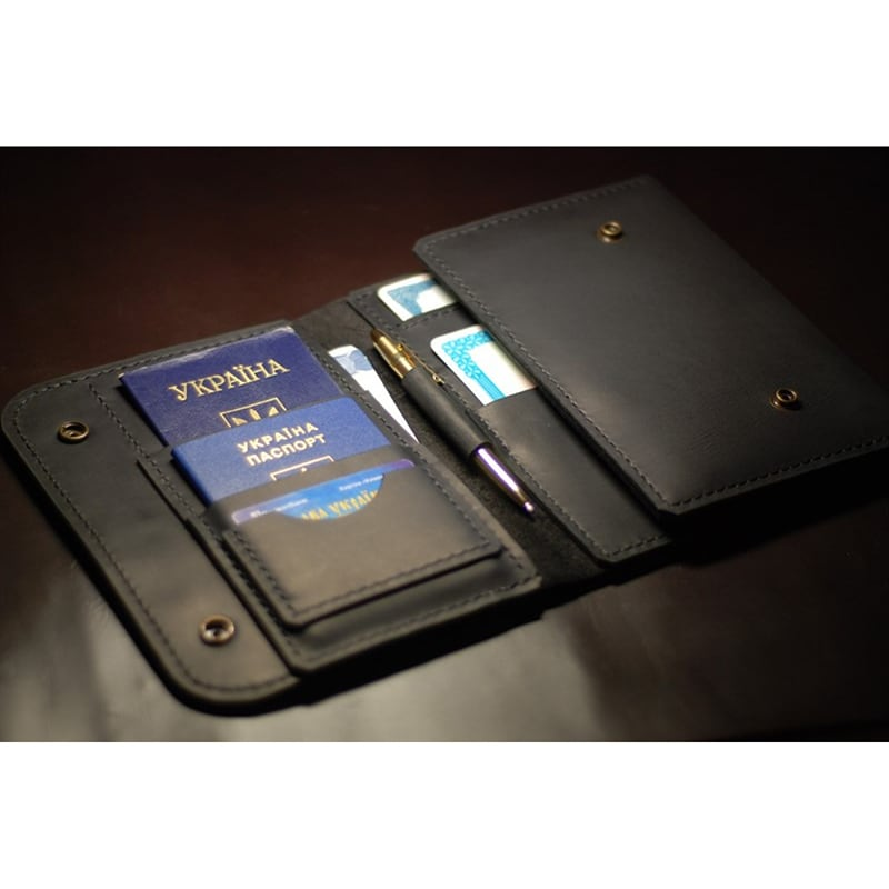 Шкіряний органайзер Seaman's Briefcase black leather