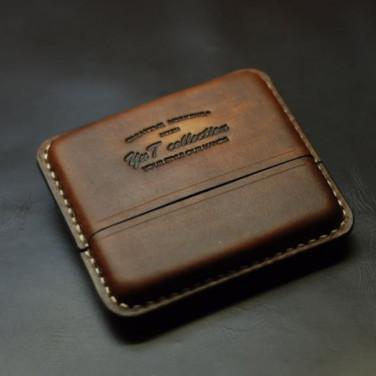 Кожаный портсигар Super slims-100 brown leather