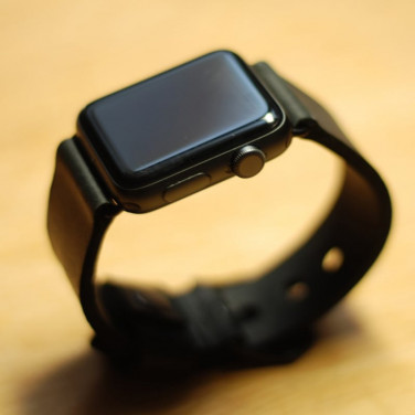 Кожаный ремешок для Apple Watch 40/44 black leather