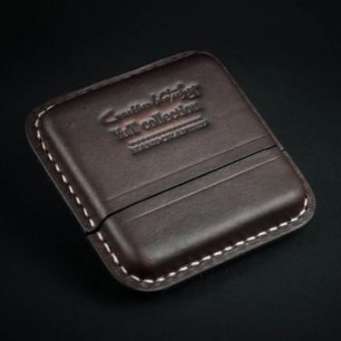 Портсигар кожаный Chocolate brown leather