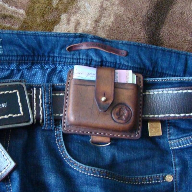 Кожаный мужской кошелек Нolster brown leather