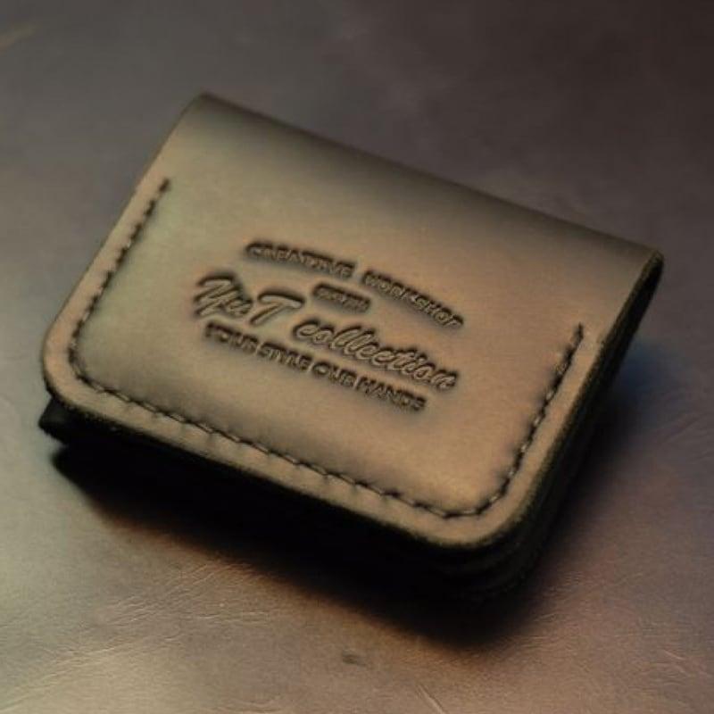 Чоловічий шкіряний гаманець Compact black leather