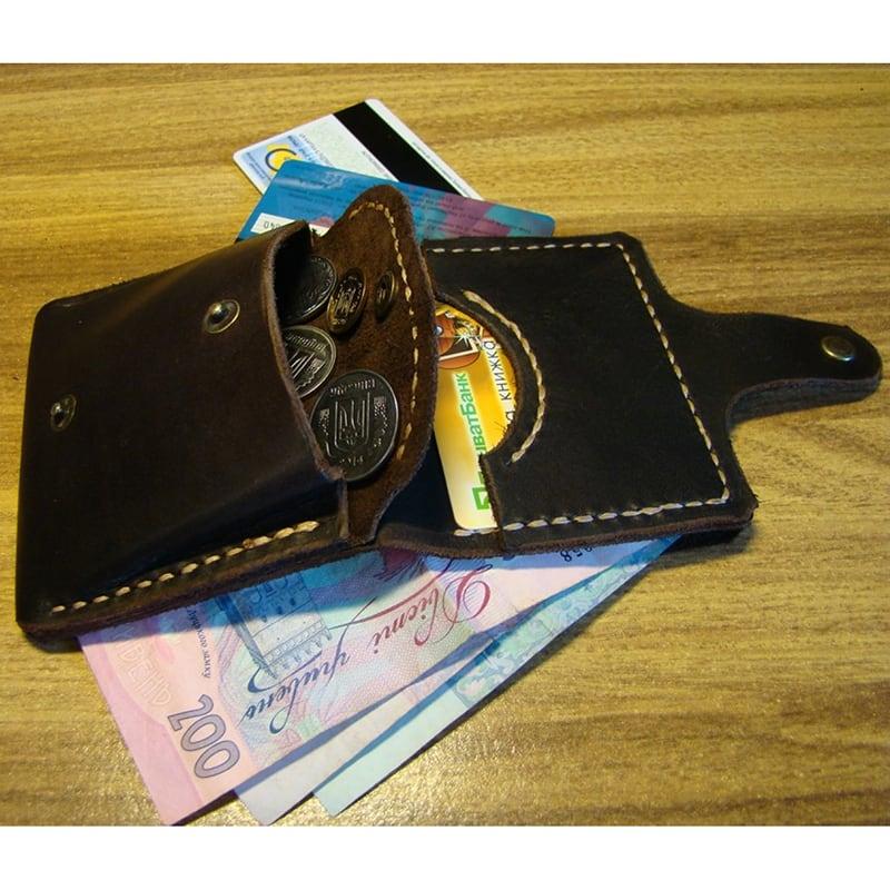 Шкіряний гаманець Fanny Pak black leather