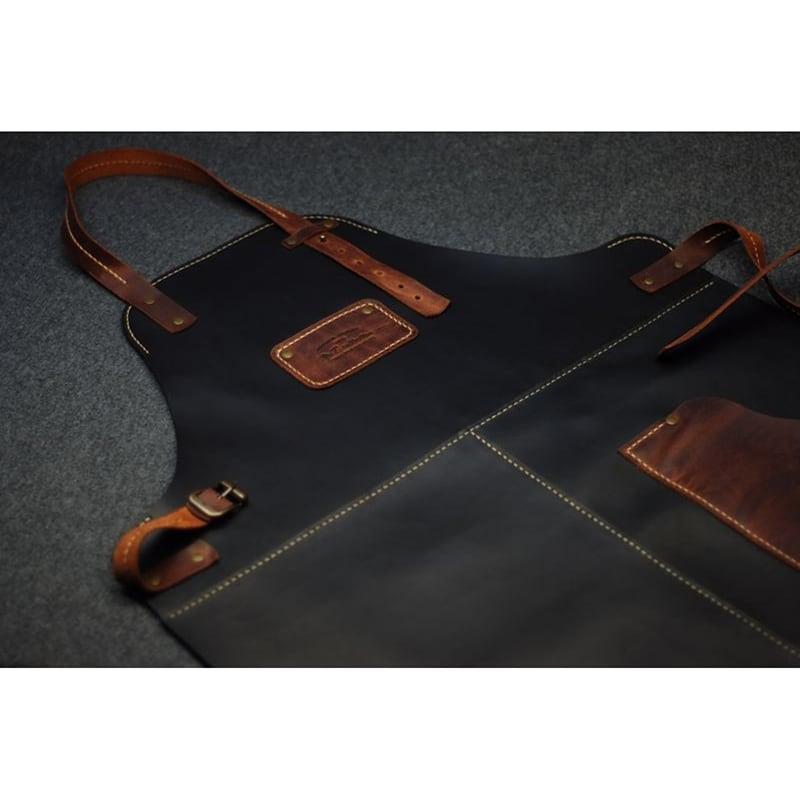 Фартук кожаный Professional black leather