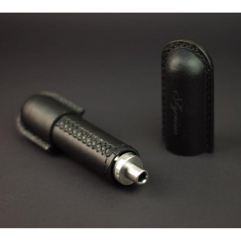 Чехол на электронные сигареты eCig black leather