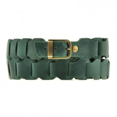 Шкіряний ремінь Boho Shic Verde Leather