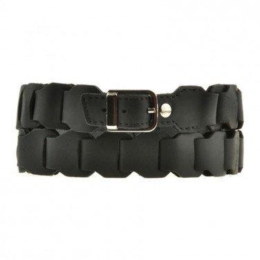 Ремінь шкіряний жіночий Boho Shic Black Leather