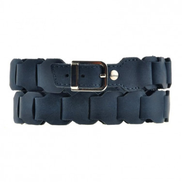 Ремень кожаный женский Boho Shic Dark Вlue Leather