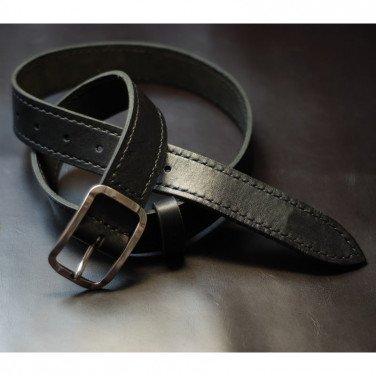 Жіночий шкіряний ремінь Solo Вlack Leather