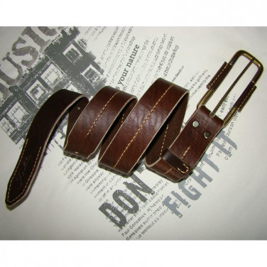 Кожаный ремень ручной работы Graceful Brown Leather