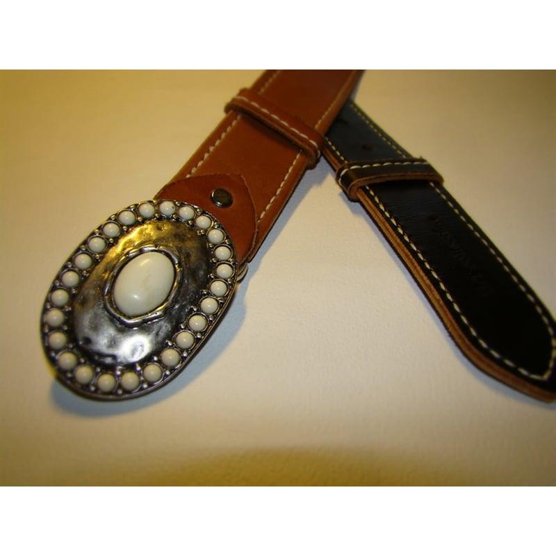 Кожаный ремень под джинсы Вelt Doubles Brown Leather