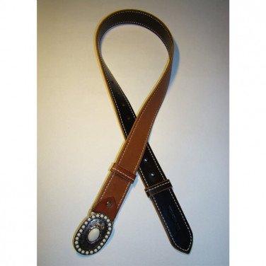 Шкіряний ремінь під джинси Вelt Doubles Brown Leather