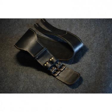 Чоловічий шкіряний ремінь Athlete Black Leather