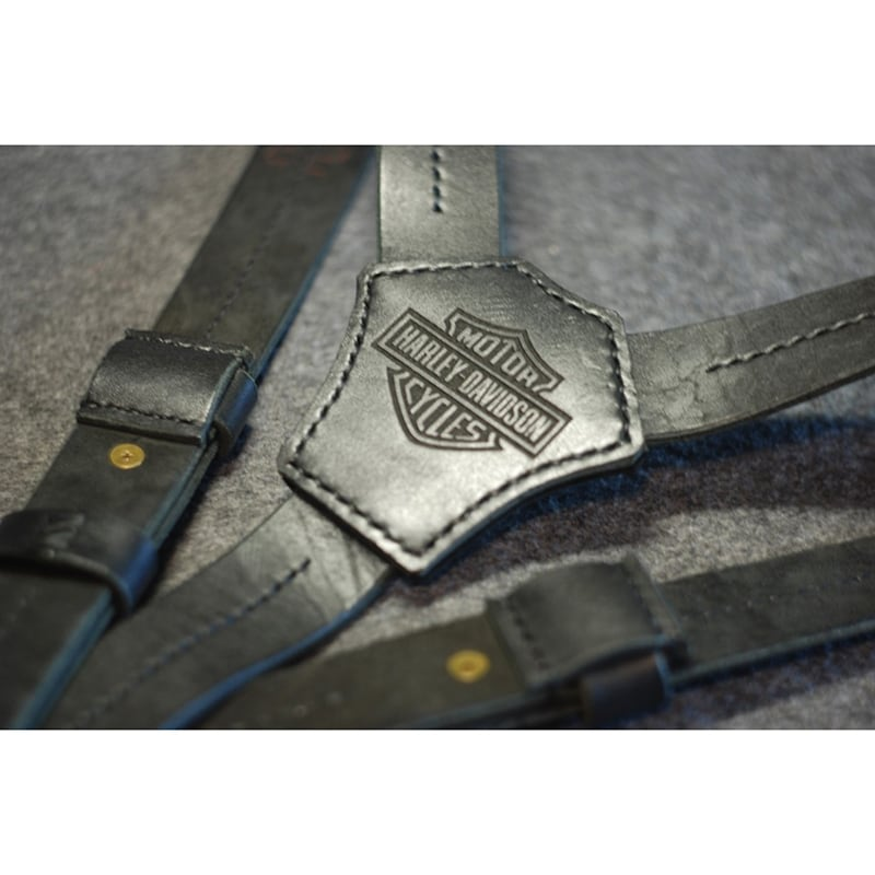 Шкіряні підтяжки Harley-Davidson Motor Black Leather