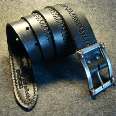 Кожаный мужской ремень X-Style Black Leather