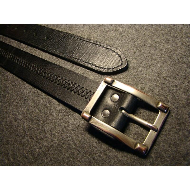 Шкіряний чоловічий ремінь X-Style Black Leather