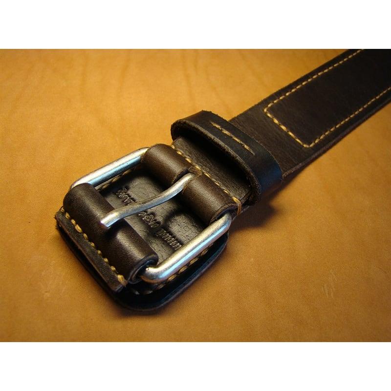 Кожаный ремень классический Flap Brown Leather