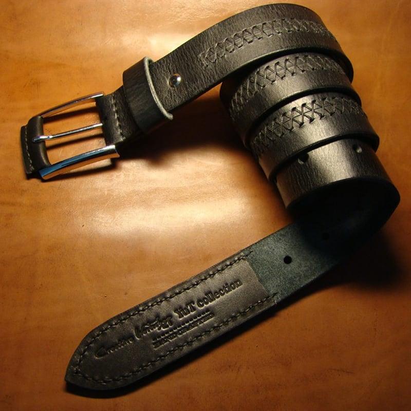 Шкіряний ремінь ручної роботи X-Factor Brown Leather