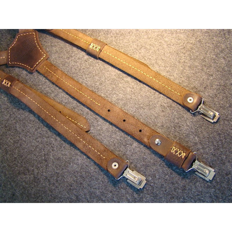 Кожаные мужские подтяжки Brutally Brown Leather