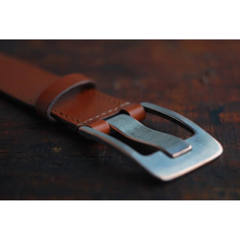 Мужской кожаный ремень ручной работы Calvados Brown Leather