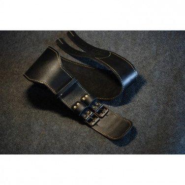 Мужской кожаный ремень Athlete Black Leather