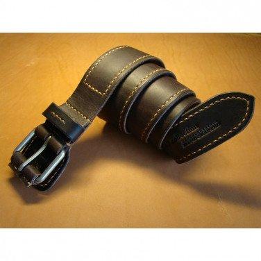 Шкіряний ремінь класичний Flap Brown Leather