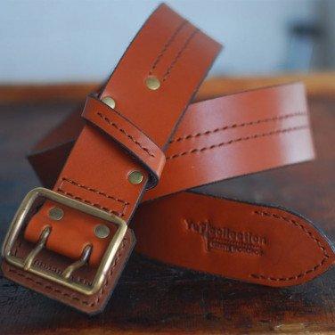 Чоловічий шкіряний ремінь Bourbon Brown Leather