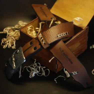 Кожаный ремень мужской Buffalo Brown Leather
